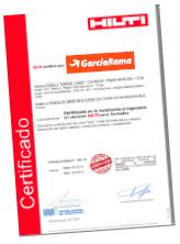 Certificado GarcíaRama - Hilti
