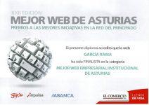 Diploma Mejor Web de Asturias